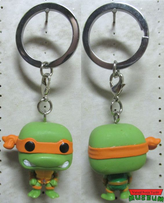 Pop keychain front and back